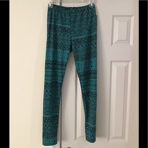 Woman's Leggings Vision Size S Green